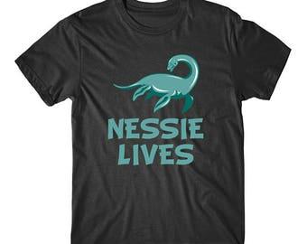 Nessie Lives Funny Loch Ness Monster T-Shirt