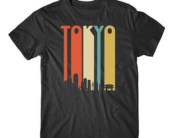 Vintage Retro 1970's Style Tokyo Japan Cityscape Downtown Skyline T-Shirt
