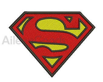 Superman Logo Embroidery  design 7 Size  INSTANT download machine embroidery