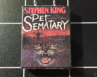 Pet Sematary by Stephen King book pendant
