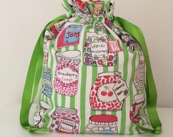 Knitting bags / knitting bag / crochet bag / project bag - knitting sweets green