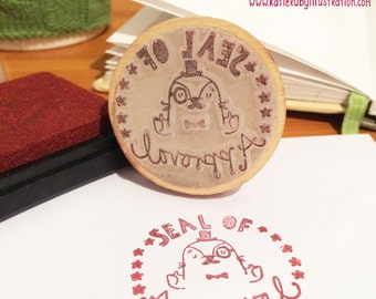 Seal of Approval Stamp, Pun Stamp, Silicone Stamp, Craft, Scrapbooking, Teacher