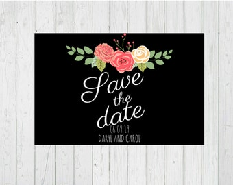Wedding Save The Date Printable, Wedding Printable Save The Date, Printable Wedding Save The Date, Wedding Save The Date