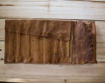 Leather Motorcycle Tool Roll