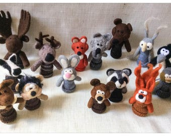 Finger puppets Forest Animals/puppets wool has rights forest animals