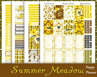 SALE~Summer Meadow~Printable Happy Planner Stickers Weekly Kit For The Classic MAMBI Happy Planner