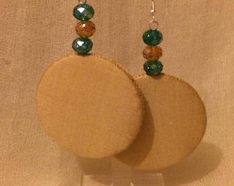 Gold silk earring