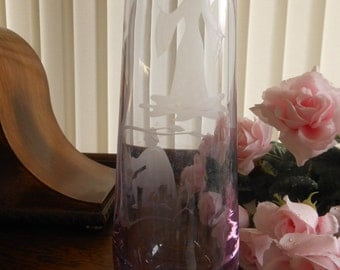 1970s Romeo and Juliet Caithness Glass vase
