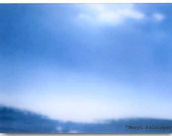Blue Dented Ocean with Clouds -  Photograph, Landscape, Fine Art, BeachScape, Ocean