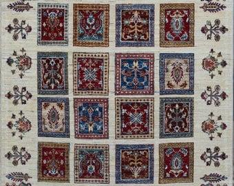 120 x 180 cm Beautiful hand knotted bakhtiyari rug 100% wool
