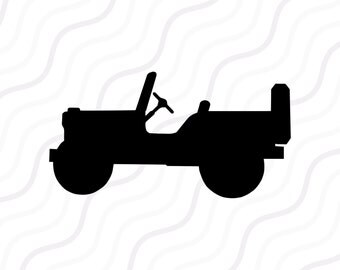 Jeep SVG, Jeep Silhouette SVG Cut table Design,svg,dxf,png Use With Silhouette Studio & Cricut_Instant Download