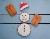 Christmas Snowman Biscuit Gift Set - Stocking Filler Cookie Set - Stocking Fillers for Kids - Snowman Cookies - Novelty Cookie Gift Set