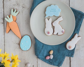Hoppy Easter Biscuit Gift Set - Bunny Biscuits - Easter Cookies - Novelty Easter Biscuit Gifts - Easter Egg Gift Set