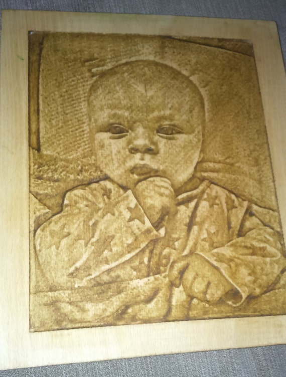christmas personalized gift, picture on wood, in frame, carved,  in hard gift box. with free delivery within UK
