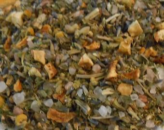 Detox Bath Soak-Orange & Pink Sea Salt Blend-Bath Soak-Organic Orange Peel Himalayan Pink Herbal Tub Tea