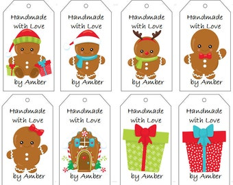 Gingerbread Babies Gift Tags- PDF File