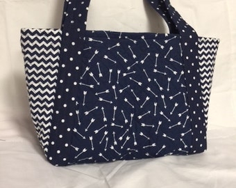 Tribal Arrows Quilted Tote
