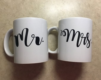 Mr. and Mrs. Coffee Cup 11oz Set
