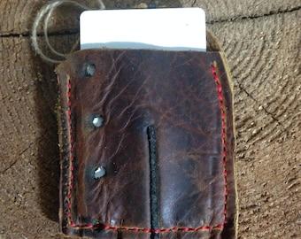 Vintage Baseball Glove Wallet, Repurposed Leather Wallet, Handmade Leather Wallet, Small Wallet, Front Pocket Wallet
