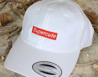 Supercute - choose hat color dad hat with embroidery - made to order