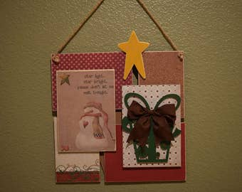 Star Light Star Bright Christmas Wall Hanging - Christmas Wall Decor - Wood Wall Collage - Collage Art