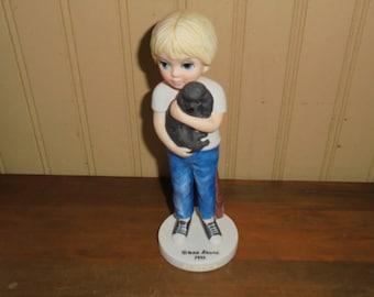 "Vintage Margaret Keanne ""A Boy and his Dog"" Figurine"