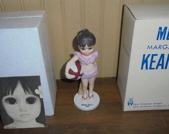 "Vintage Margaret Keane ""At The Beach"" Figurine"
