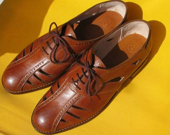 G.Cooper.Oxford sandals-leather shoes-handmade shoes-oxford-custom shoes-sandals-brown-womens oxford shoes-mens oxford shoes