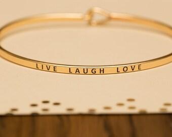 Bangle Bracelet, Live Laugh Love