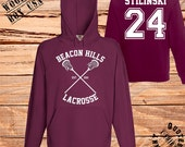 Quick Dispatch.Beacon Hills.Lacrosse. Stiles Stilinski.24-Fan  hooded sweatshirt Teen Wolf tv series.Christmas gift
