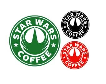 STARWARS- STARBUCKS Spoof Rogue One Coffee Quality Vinyl Decal, Coffee, Yeti, Car, Laptop, Gift, Star Wars