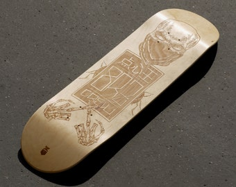 Personalized gift - Custom skateboard made by laser engraving