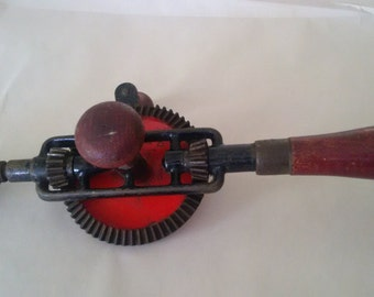 IXION vintage breast drill made in Germany  Rustic drill  Farm Tool  Industrial antique Decor