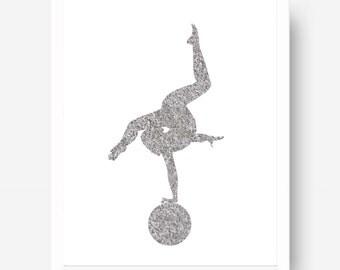Printable Contortion Art - Contortionist - Black & White Cirque - Cirque Poster - Circus Art Print - Circus Illustration - Circus Drawing
