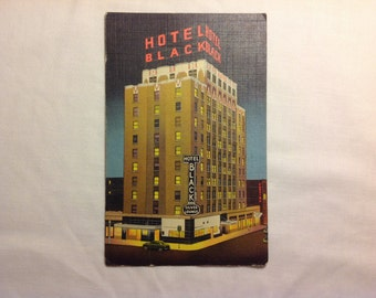 Vintage postcard Hotel Black Oklahoma City, Oklahoma postmarked August 12 1954