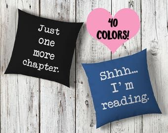 Reading Quote Pillow Set | Reading Pillow | Book Lover Pillow Set | Reading Throw Pillow | Book Pillow Set | Book Lover Pillow | Book Pillow