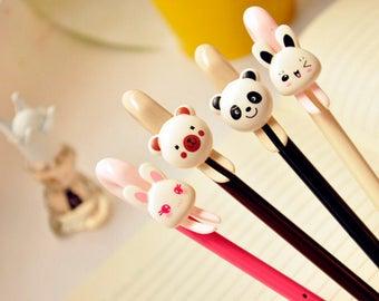 SALE! Kawaii Animals Gel Ink Pens