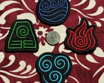"Avatar Bender Symbol patches iron-on patch - 2.4"" (ish) Embroidered"