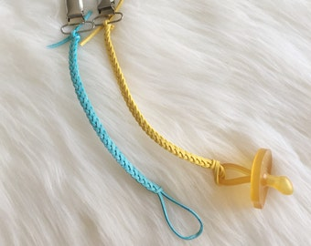 Colored Pacifier Clips