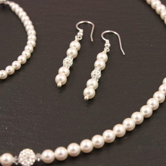 Brautschmuck swarovski  Perlenset Giulia Braut Brautschmuck Swarovski Perlen