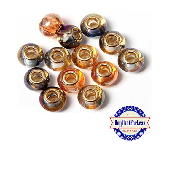 Glass BEADS in Alabaster Colors, 6 pcs   **FREE Shipping with orders 10 dollars+ **