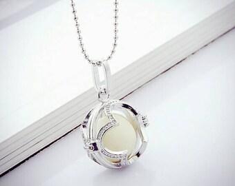 Breast Milk DIY Kit/ Breast Milk Jewelry/ Breast Milk Keepsake -Round Locket Pendant W Necklace