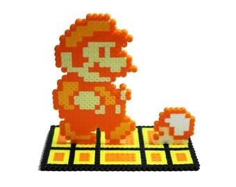 Super Mario Fire Mario 3D, Figure, Perler Bead, 8-Bit
