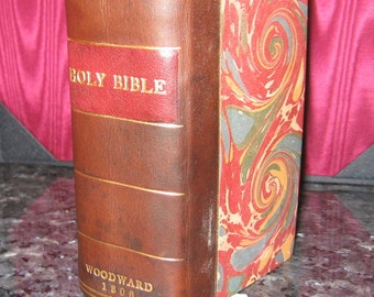 1806 King James Bible Woodward Octavo First Edition