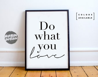 Do What You Love l Poster with Love l Wall Decor l Minimal Art l Home Decor l Valentines Gift l Anniversary Gift