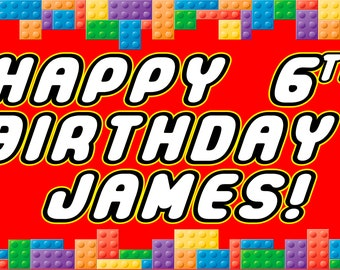 Lego Birthday Banner/Backdrop