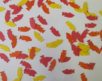 Red, Orange, and Yellow Fish Confetti - Fish Party Decorations - Fish Birthday Party Decor - Fishing Party Decorations