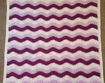 Raspberry Ripple Blanket