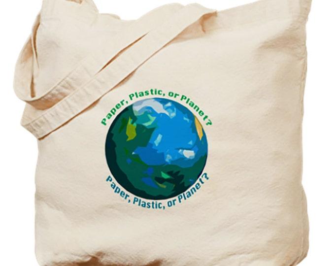 Cloth Reusable Bags, Totes, Cloth Bag, Paper, Plastic, or Planet?, Tote, Bags, Tote, Market Bags, Medium Bag, Cloth Bags, Reusable Bags