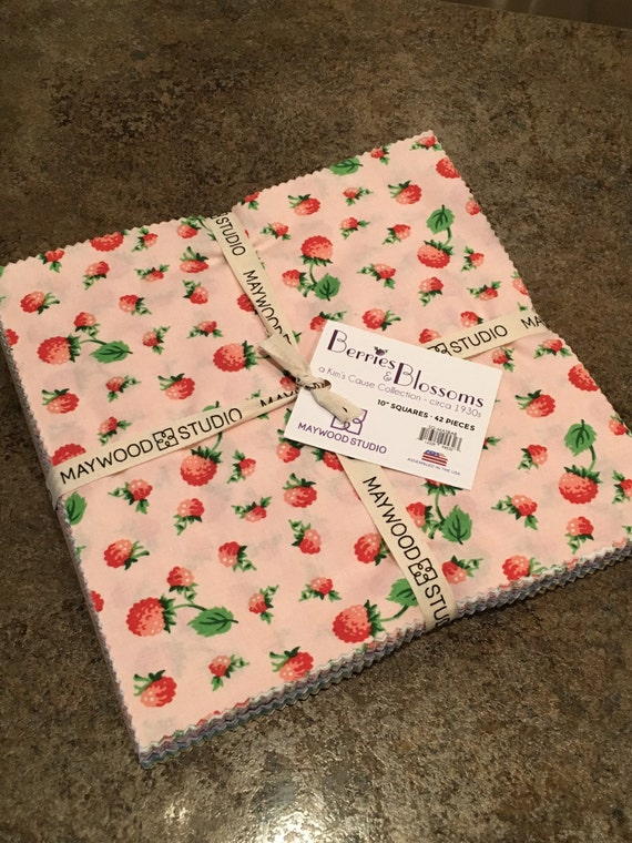 Berries And Blossoms Layer Cake Fabric